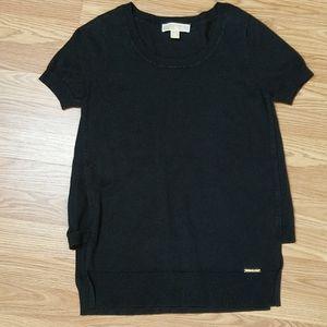 Michael Kors Black Short Sleeve Top Size Medium